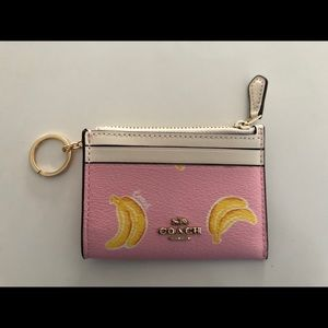 Nwt coach cardholder within keychain - bananas!!